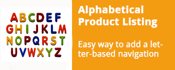 Alphabetical Product Listing - addon for CS-Cart