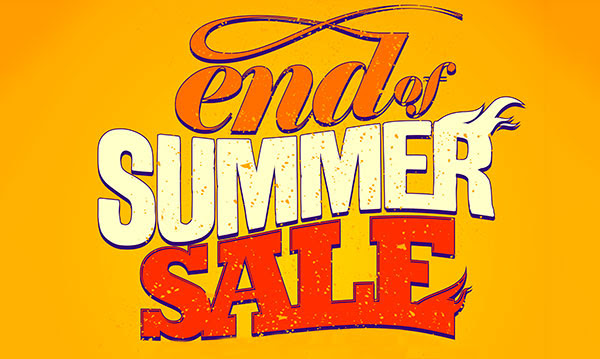 End of Summer Sale: up to 30% off