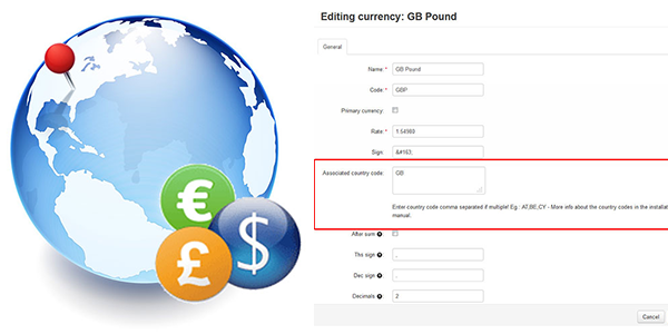 New version of GeoIP Currencies addon for CS-Cart