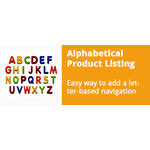 Alphabetical Product Listing v4 addon for CS-Cart