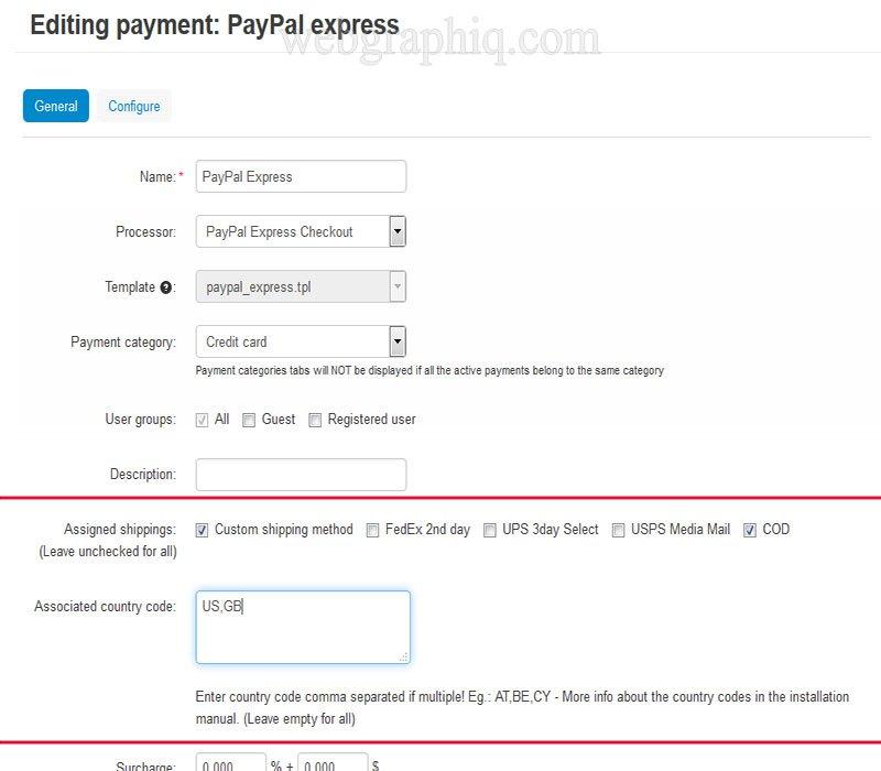 Ship2Pay v4   CS-Cart Payment Method Based on Shipping Method addon